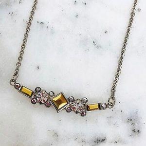 Sorrelli Golden Nugget Bar Necklace, NWT